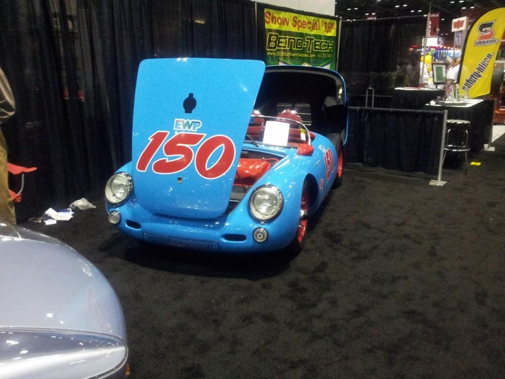 A classic racing car steals the show at the 2012 PRI.