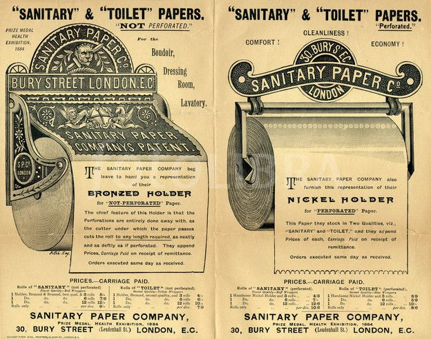 Victorian Toilet Paper Holders.