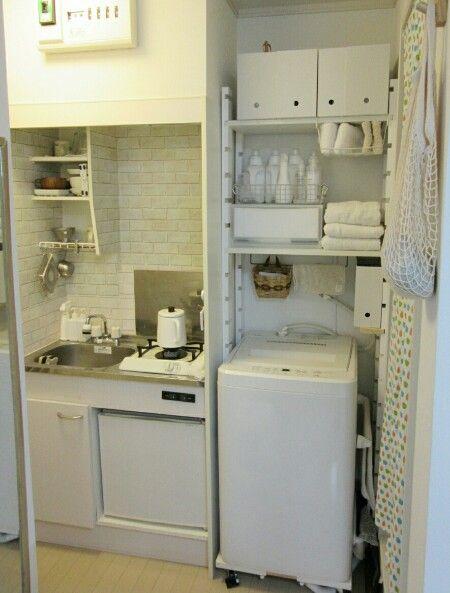 洗濯機上の収納 突っ張り棚をやめてDIYしました : ボンビーハッピー!