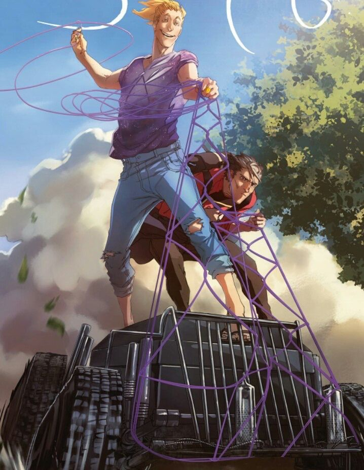 Bubble comics, Экслибриум, обложка 4 главы, Саша и Артур/Соловей