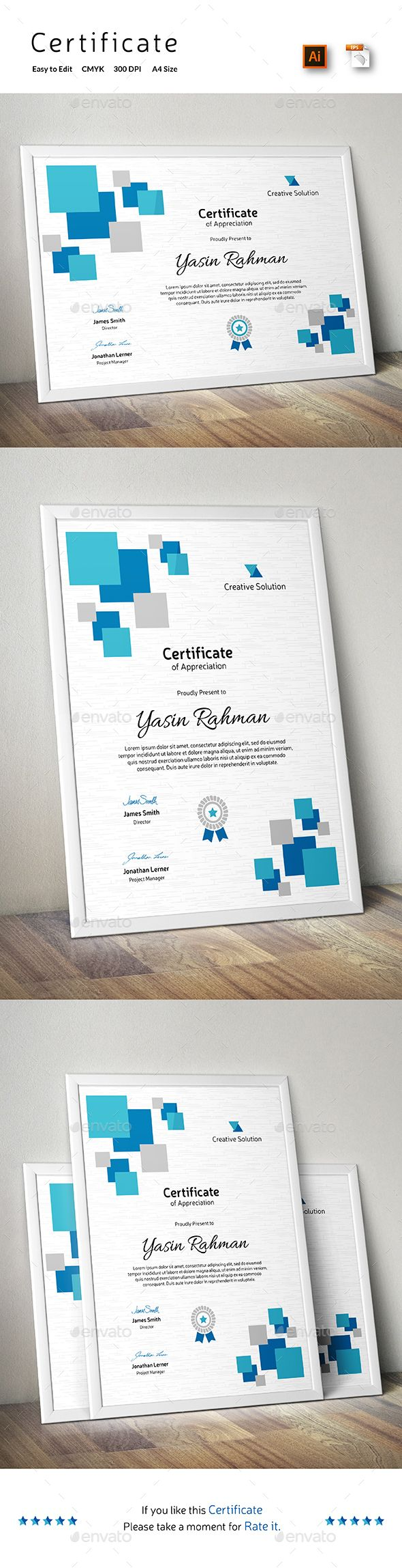 Certificate Template Vector EPS, AI. Download here: http://graphicriver.net/item/certificate/14407226?ref=ksioks