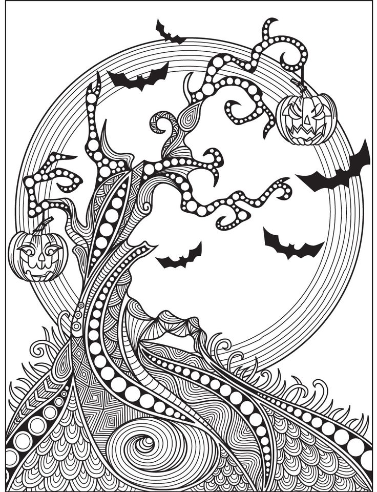 Halloween coloring page colorish free coloring app for for Coloring pages halloween adult