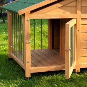 Casetas con terraza para perros | grandes descuentos en bitiba.es: Caseta de madera para perro Sylvan Special L - L: 140 x 110 x 95 cm (LxAnxAl) (* 2 paquetes) 451680.6 PRVP* 219,00 € en bitiba 149,99 €