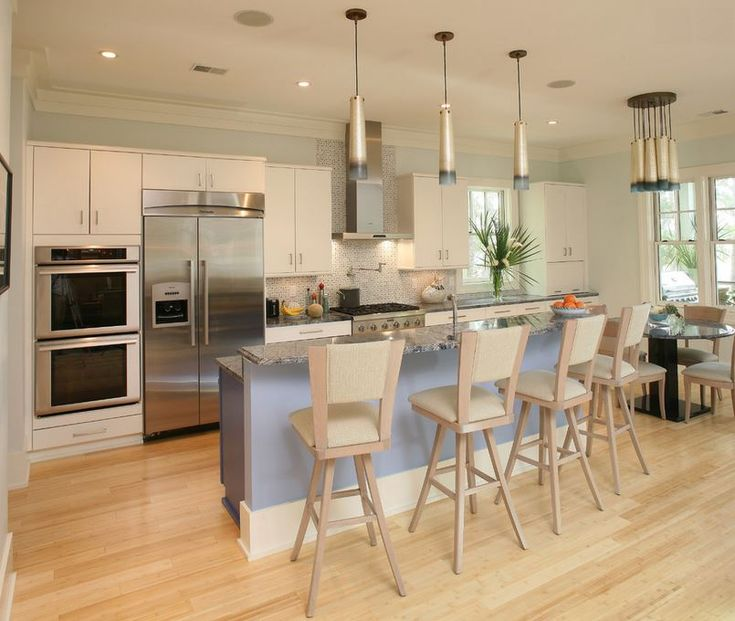 bamboo flooring in a kitchen designed by kristy johnston of two girls and a design learning