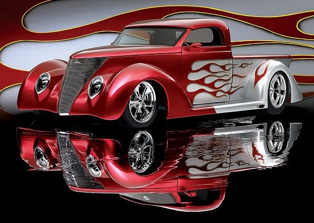 (1937 Ford Pickup Reflection)