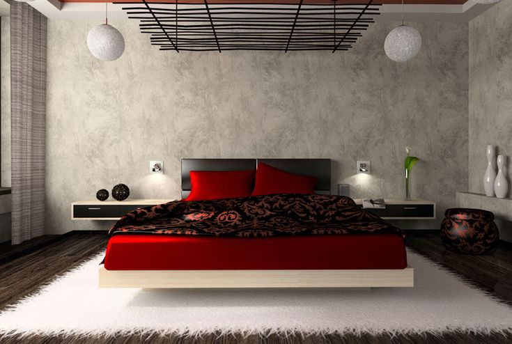 Black and white lends any room a classic look. Add red accents for a pop of color — and fun.