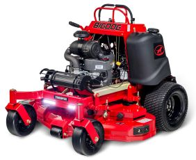BigDog® Trooper stand-on commercial ZTR zero turn mower offers smoothest steering and commercial grade decks backed by 2,000 hours limited warranty.