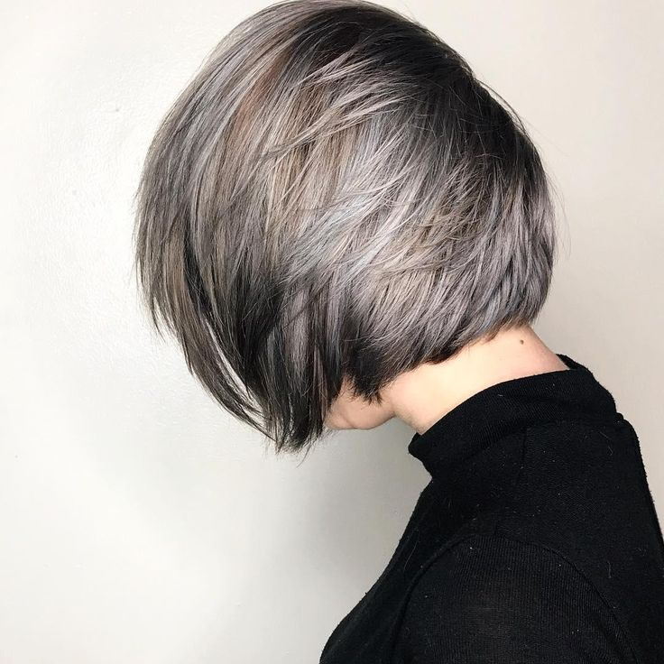 Icy blue-grey and ashy gray Aveda hair color by Aveda Artist Miranda Salviano. Formula: 20g 10N + 20g 9N + 3g Pastel B + 3g Pastel V + 2g L V/B + 2g L B/B+ 3g 1N