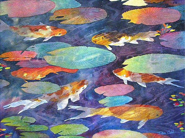 60 best gold fish paintings and drawings images on for Michael koi pond