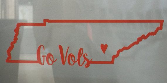 TN Go Vols Decal