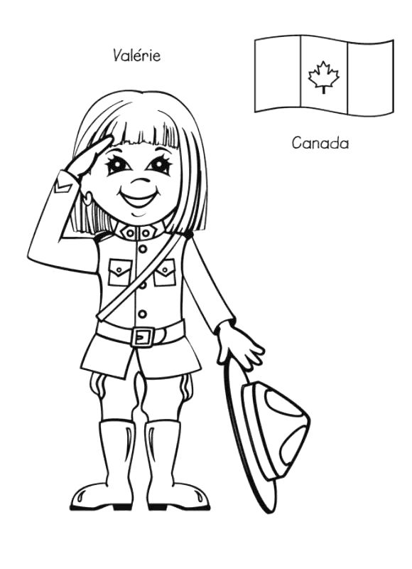 valerie is from canada coloring page