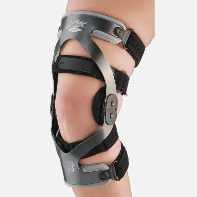 The Breg X2K Women's Knee Brace is designed specially to fit a woman's unique shape.  The upper thigh portion has been adjusted to provide a better fit to line up properly around the thigh as it comes into the knee joint.  This adjustment in the frame makes it uniquely styled just for women.  The product features comfortable padding and straps designed to maintain the brace in the proper position at all times.  It can be used for ACL tears, combined ligament instabilities, and for returning…