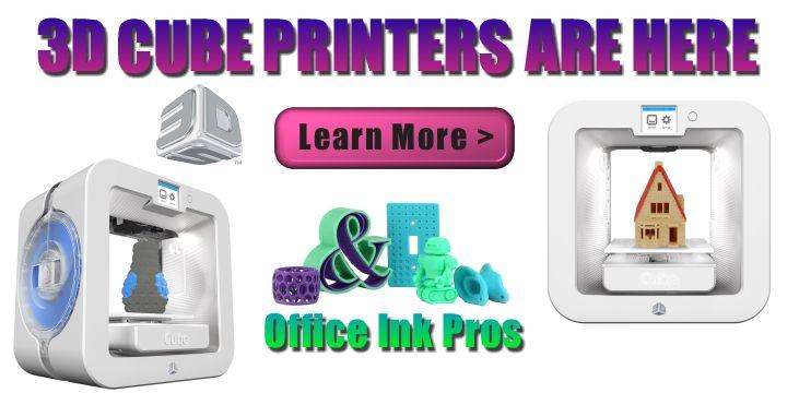 CUBE 3D PRINTER on sale $994.95 3D Printers | 3D Printing. #3DPrinters www.officeinkpros... 877-920-0922