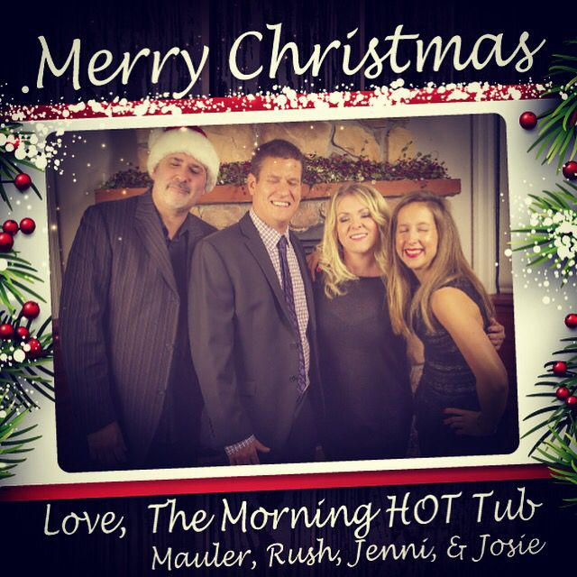 #MerryChristmas from the #MorningHOTTub! Love these guys!