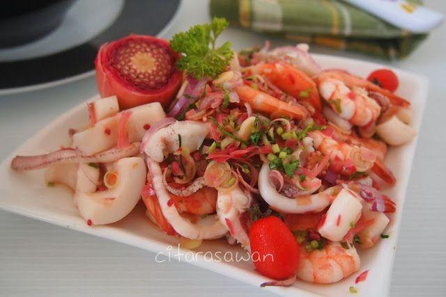 Kerabu Makanan Laut Ala Thai - Selera.me Resepi Terbaik 2014