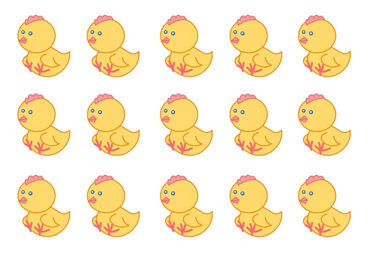Цыплята для аппликации