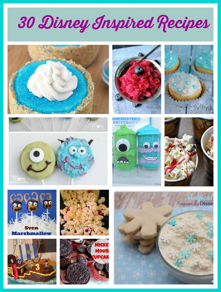 Are you a Disney fan? Then you need to check out these 30 #Disney Inspired #Recipes!