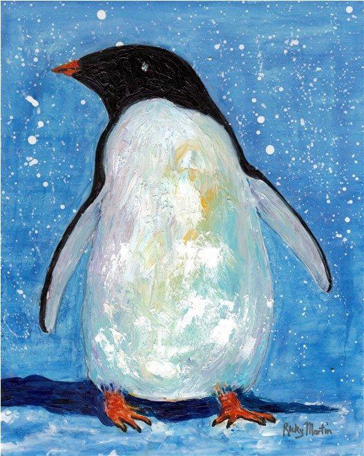 пингвины на картинах художников недостаточное дренирование
