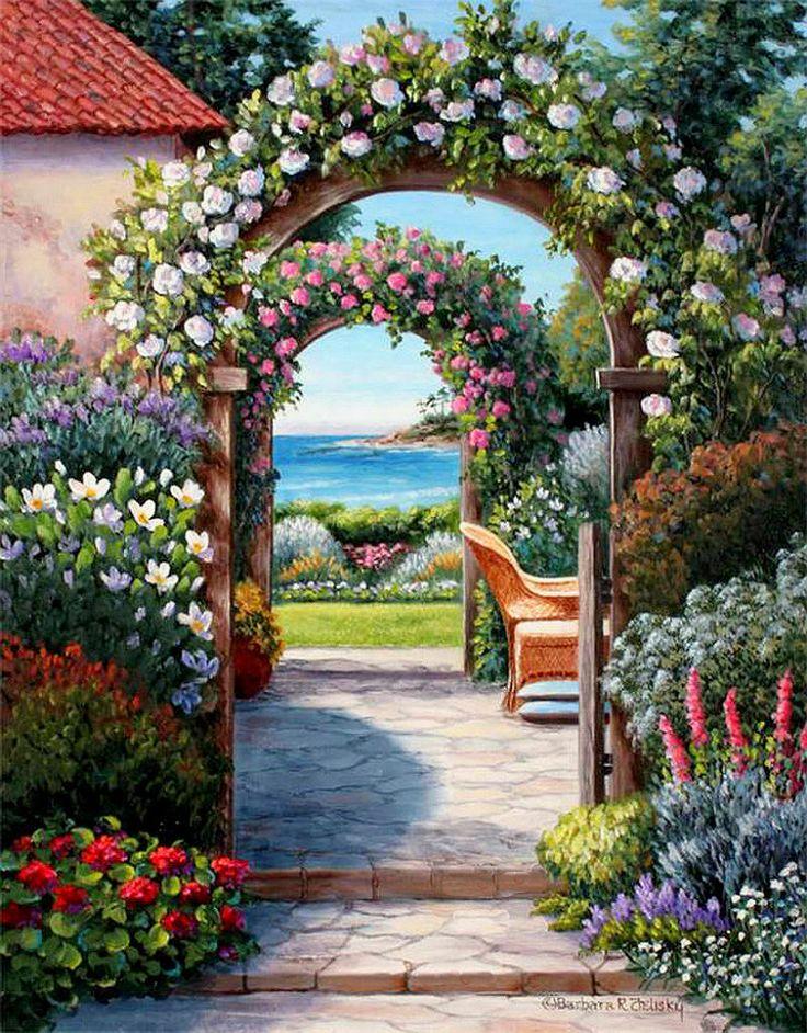 Simple Flower Garden Paintings 226 best art | flower gardens images on pinterest | flower