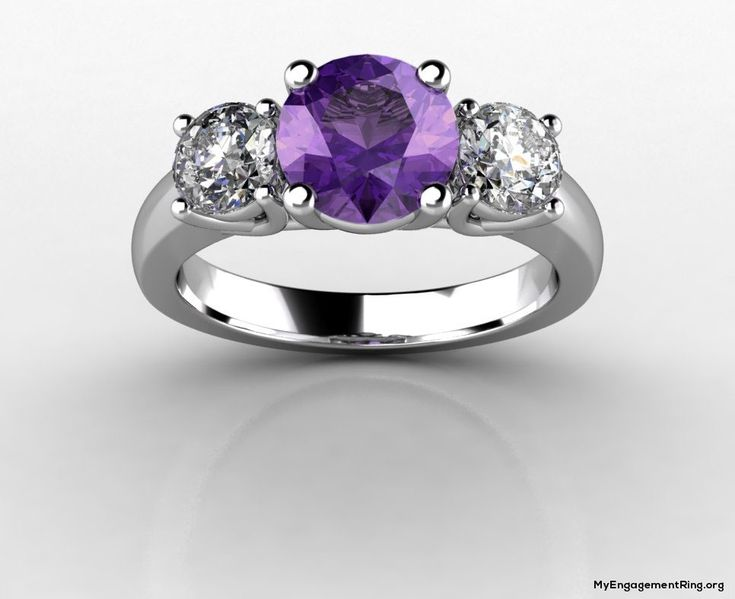 white gold purple diamond engagement ring - My Engagement Ring