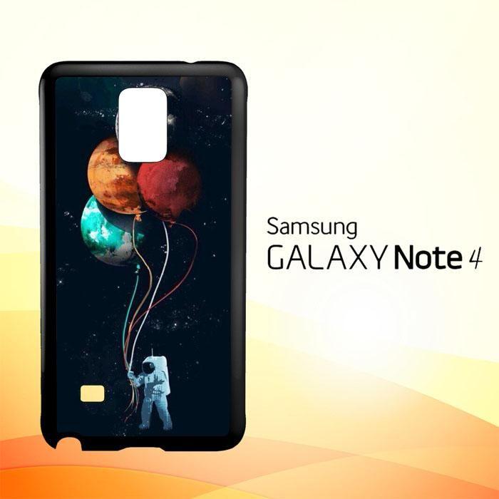 astronaut moon Y0745 Samsung Galaxy Note 4 Case