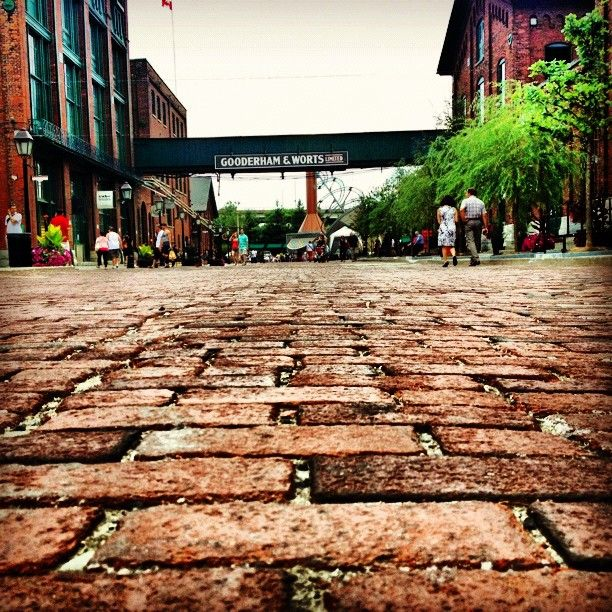 a favorite place to be and waste time, distillery district in toronto