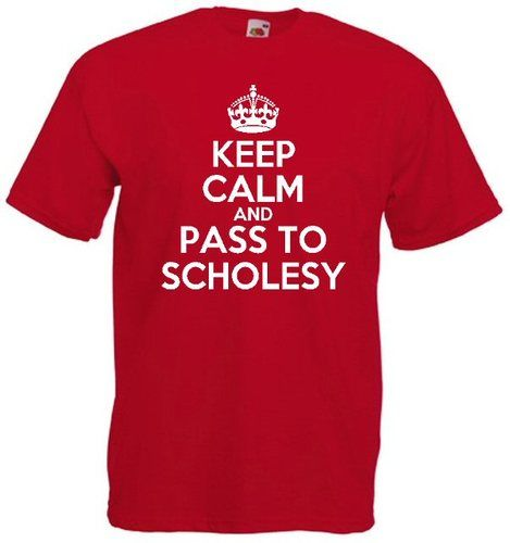 £9.99 KEEP CALM AND PASS TO #SCHOLESY MENS #TSHIRT #MANUTD - Worldwide Delivery