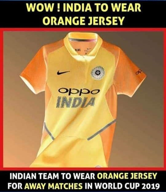 team india in orange jersey worldcup2019 cricket