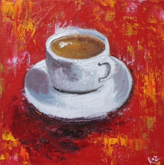 Cup on red #cofeelovers #art