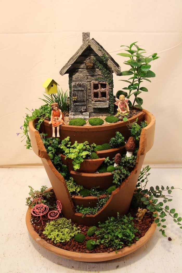 1001 Ideas For Cute And Whimsical Fairy Garden Ideas Indoor Fairy Gardens Fairy Garden Pots Fairy Garden Plants