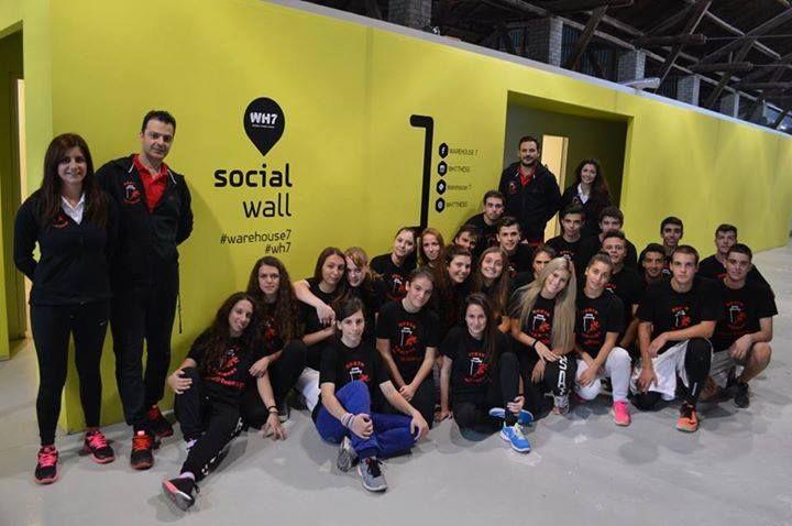 Οι Νorth Trainers στο #socialwall του #warehouse7