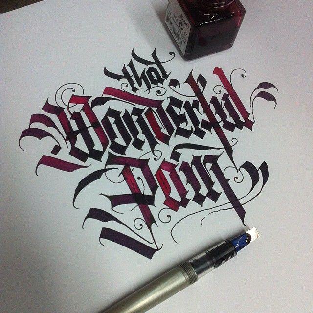 black letter / That Wonderful Pain by danielletterman