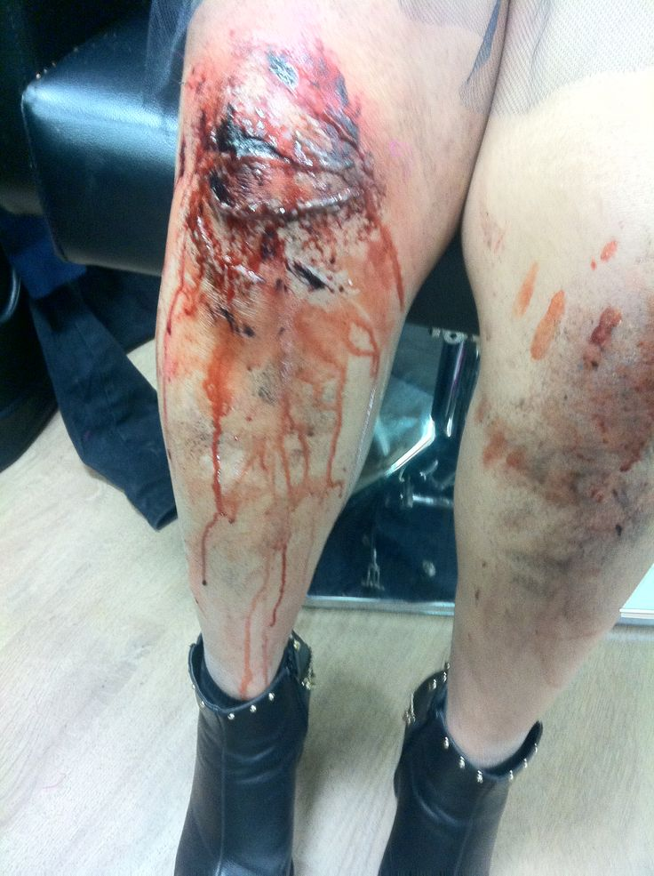 Grazed Knee Special Effects Makeup Pinterest
