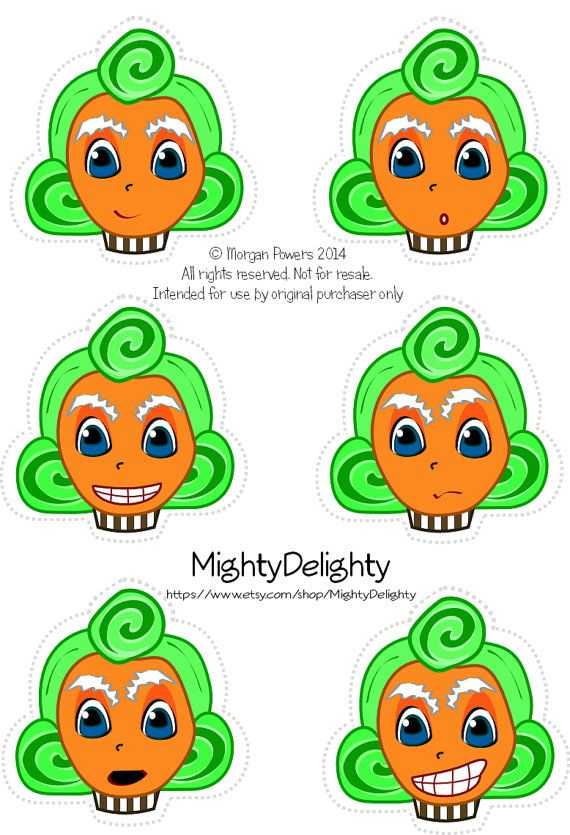 Assorted Oompa Loompa Cupcake toppers Willy by MightyDelighty