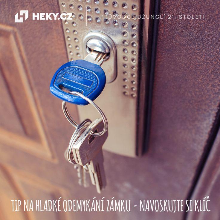Tip na hladké odemykání zámku – navoskujte si klíč