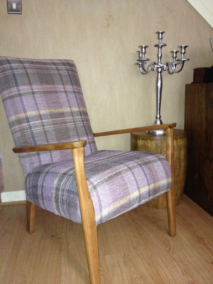 Tartan Parker Knoll This Is What I Have Been Doing Today  Re Upholstering A