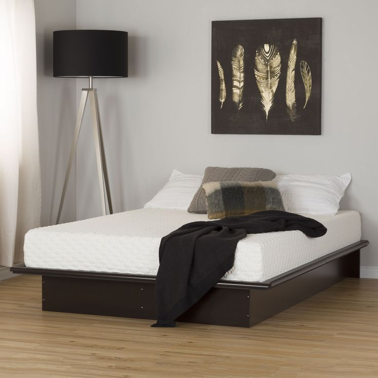 South S Step One Pure Black Full Platform Bed And Mattress Set 54