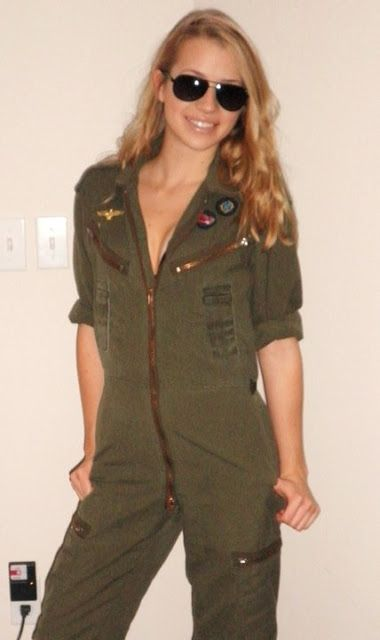 Top Gun Costume / coveralls from an army surplus store......