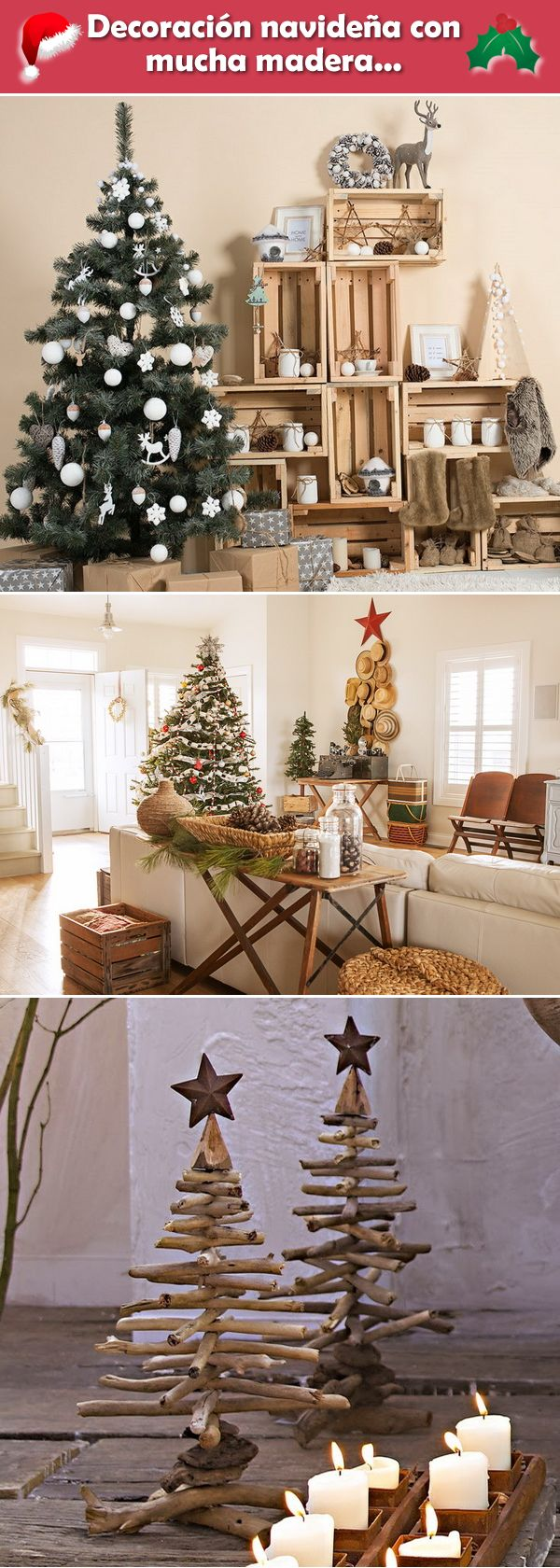 M s de 25 ideas nicas sobre navidad r stica en pinterest for Decoracion navidena rustica