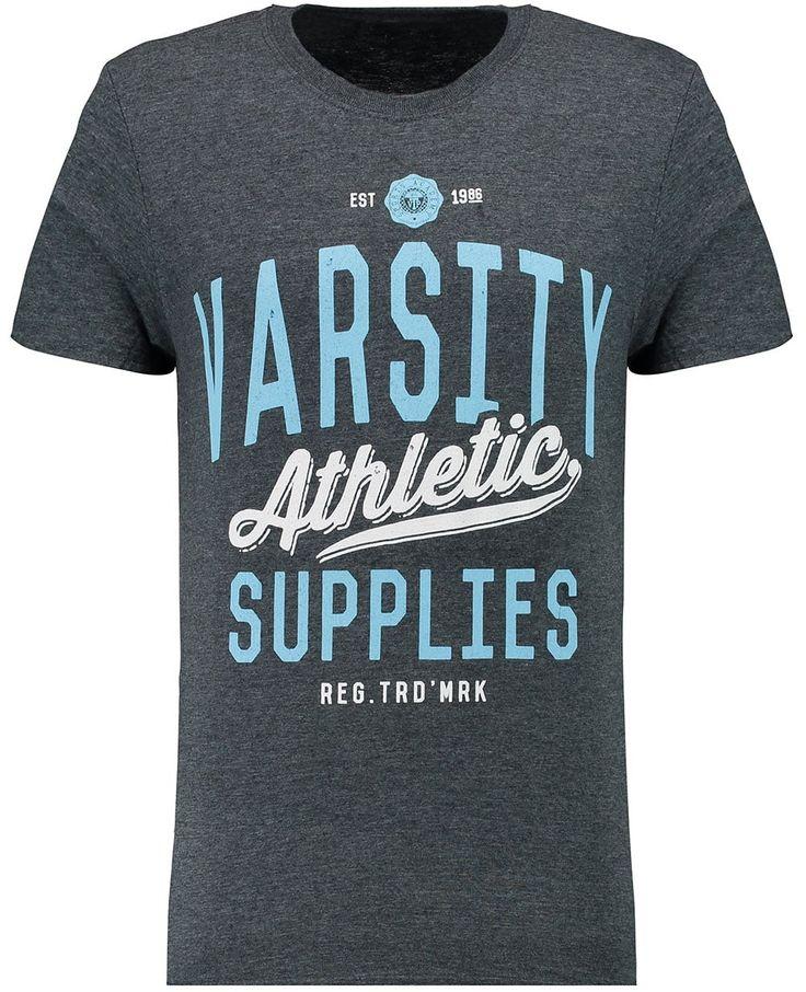 Branded T-Shirts Mens Navy Varsity Athletic Supplies Print T-Shirt