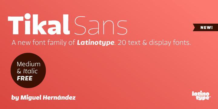 Tikal Sans (30% discount, from 0€) - http://fontsdiscounts.com/tikal-sans-30-discount-0/