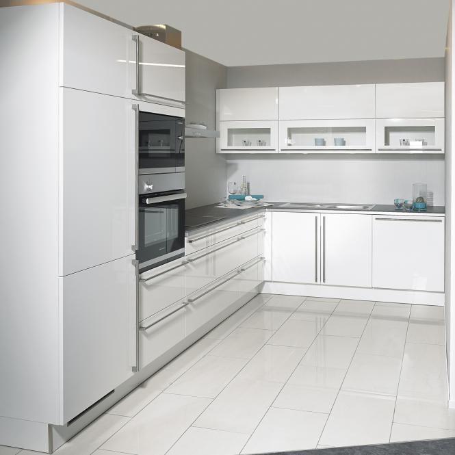 Bredenauer Einbauküche Laser Brillant in weiß