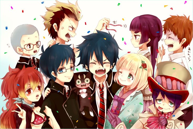 ano no exorcist: this anime is one of my favorite anime's. it is a story about Rin (the main character) who always had a normal life with his brother and father who is a priest. until he find out he's the son of Satan!!! he all at once find out these new powers about himself and while living through the lost of his thought to believe father. his claims revenge on satan an vows to kill him with his own hands. on the way he meet all kinds of friends. Over all AMAZING anime.