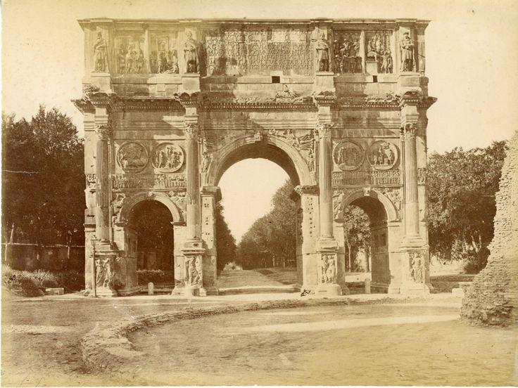 Arco di Constantino Vintage albumen print Tirage albuminé 20x25 Circa 1875
