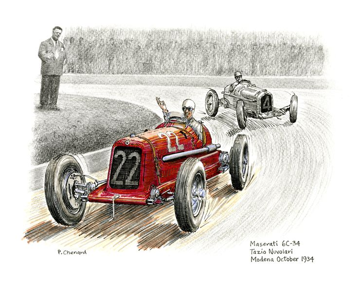 Art from the book: Circuito di Modena Grand Prix – October 4th, 1934. Available as a limited edition.
