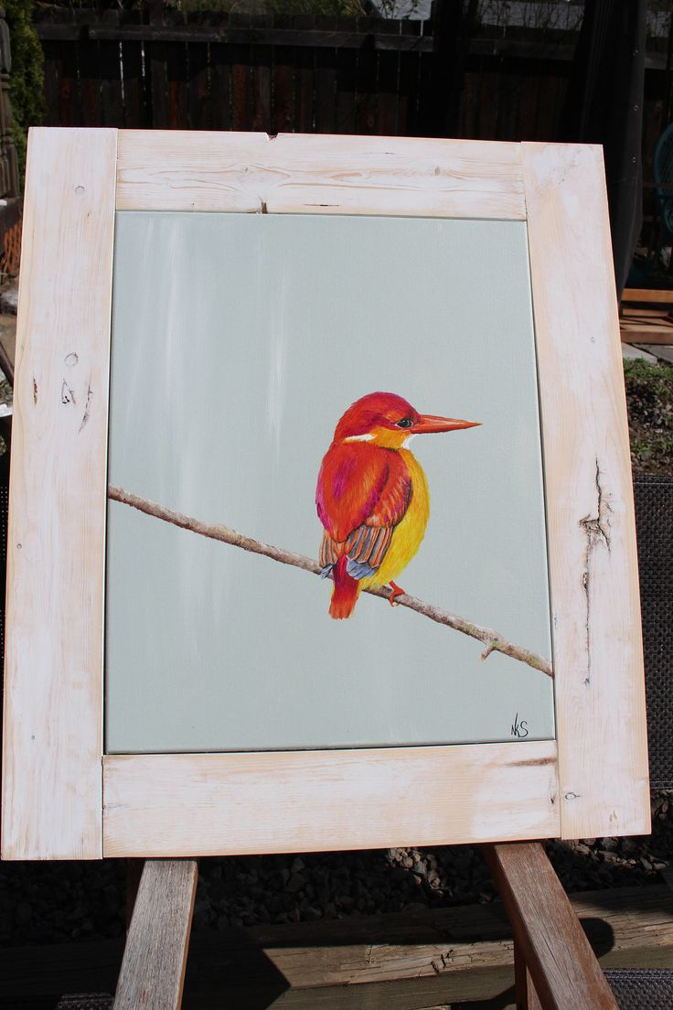 A personal favorite from my Etsy shop https://www.etsy.com/ca/listing/565515387/orange-kingfisher-painting