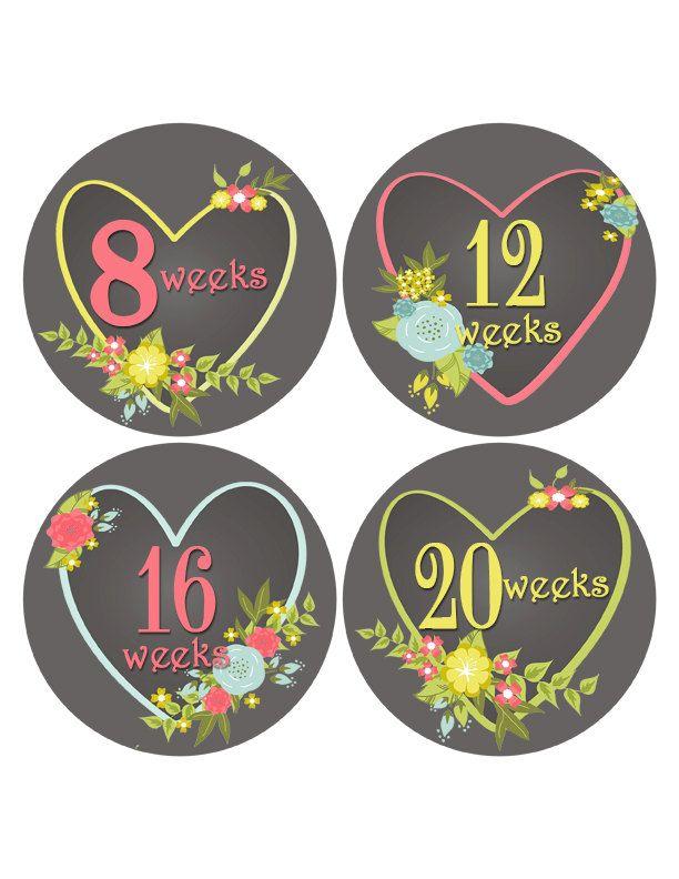 Pregnancy Stickers Chalkboard Baby Bump Stickers Heart Belly Stickers Pregnancy Reveal Pregnancy Week Sticker Gender Reveal (355) (8.00 USD) by MoonLitPrintables