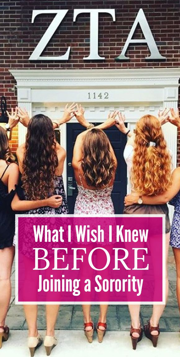 What I Wish I Knew Before Joining a Sorority