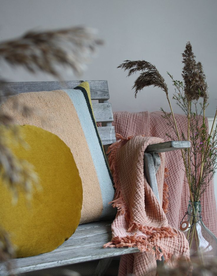 Just love this summer mood and the colours. Pillows from Christina Lundsteen and ferm living, throw from HAY. Shop it at ting-shop.dk