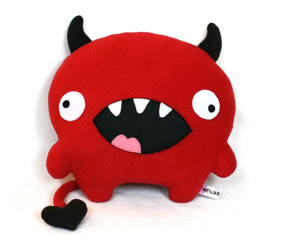 Love Devil valentine sewing pattern plush toy PDF. $9.00, via Etsy.